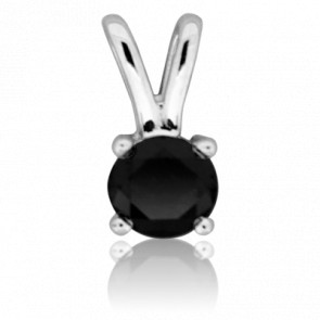 Pendentif Alone Black or blanc 18 carats et diamant noir - Ocarat