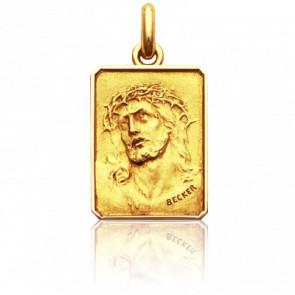 Médaille Rectangulaire Christ Ecce Homo Or Jaune 18K