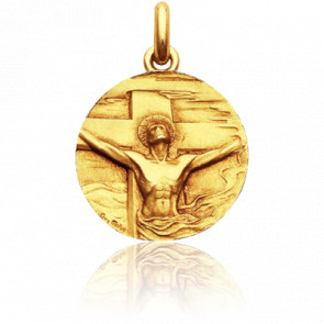Médaille Christ Rédemption Or Jaune 18K - Becker