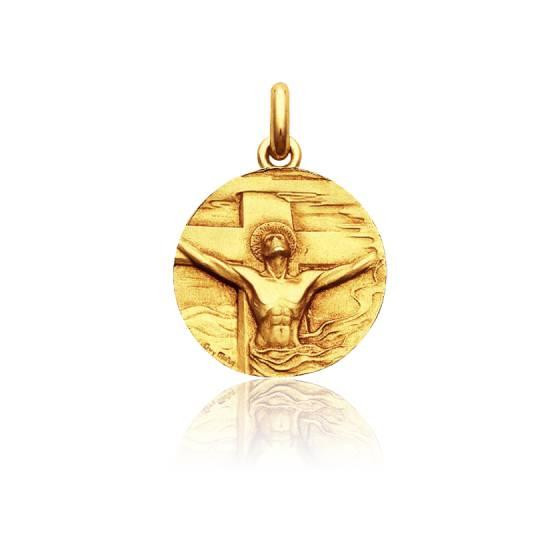 Médaille Christ Rédemption Or Jaune 18K