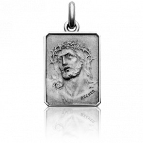 Médaille Christ Ecce Homo Or Blanc 18K