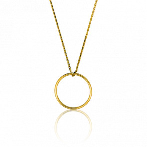 Collier Simply Circle Or Jaune Ø 17 mm