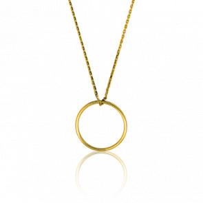 Collier Simply Circle Or Jaune Ø 17 mm - Ocarat