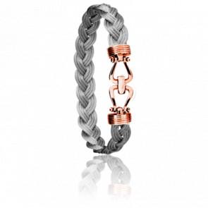Bracelet 730 Sabaye Acier & Or Rose 18k