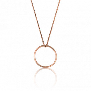 Collier Simply Circle Or Rose Ø17 mm - Ocarat