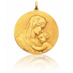 Médaille Vierge Maternité Ronde Or Jaune 18K - Becker