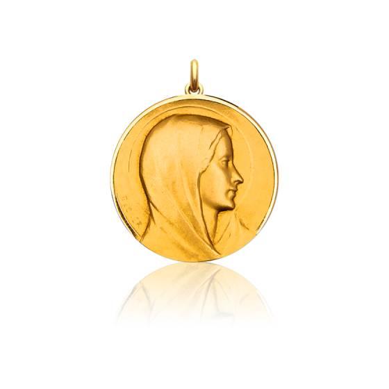 Médaille Vierge Annonciation Or Jaune 18K