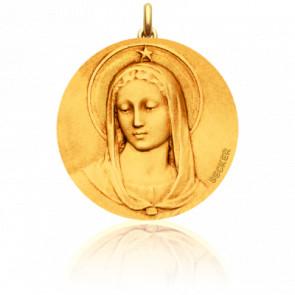 Médaille Vierge Maris Stella Ronde Or Jaune 18K