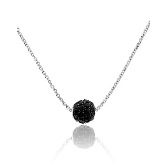 collier diamant blanc et noir