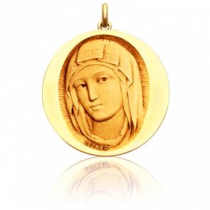 Médaille Vierge de Sienne Ronde Or Jaune 18K