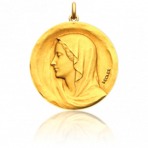 Médaille Vierge Regina Or jaune 18K