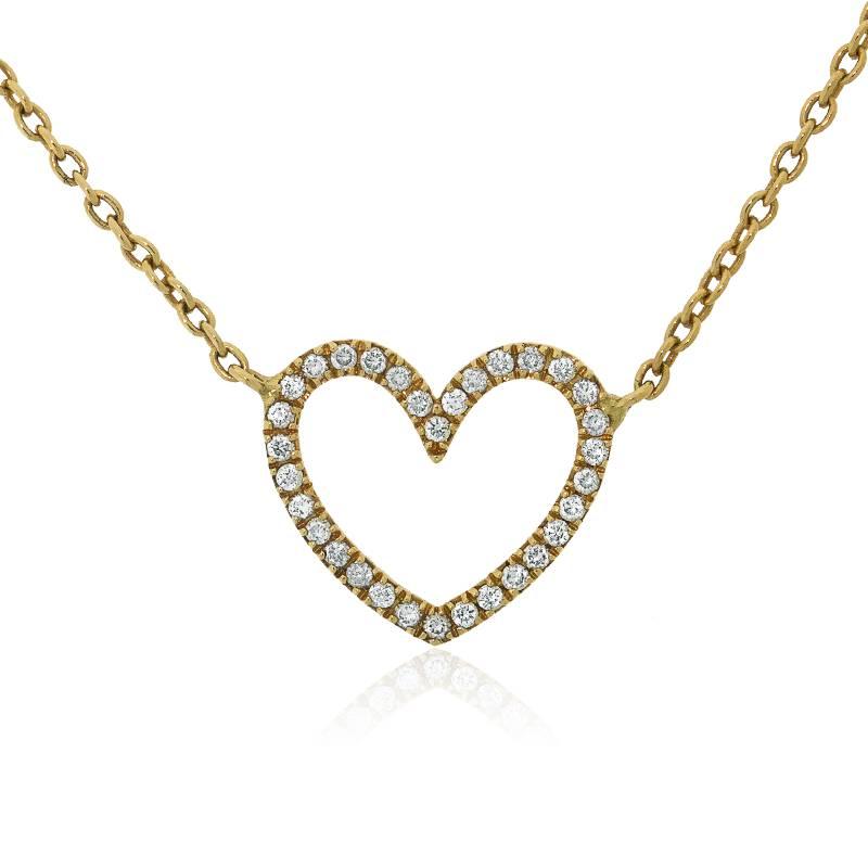 collier coeur jaune allegoria collier en or jaune et diamants ocarat. Black Bedroom Furniture Sets. Home Design Ideas