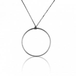 Collier Simply Circle Or Blanc Ø31 mm