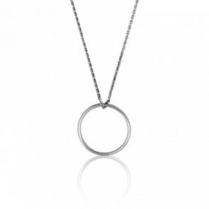 Collier Simply Circle Or Blanc Ø 17 mm
