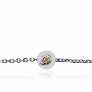 Bracelet Donut's Or Blanc et Saphirs