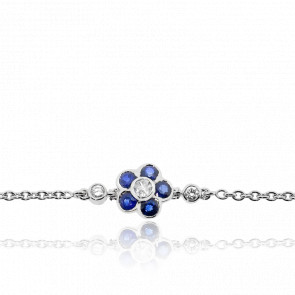 Bracelet Rose Line Or Blanc