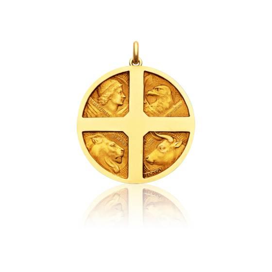Médaille Les 4 Evangélistes Or Jaune 18K