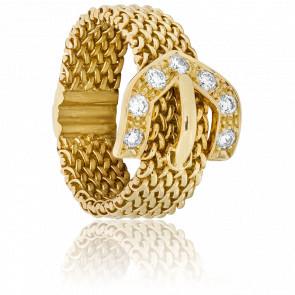Bague chaîne Belt diamanté