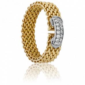 Bague chaîne Athenaïs diamanté