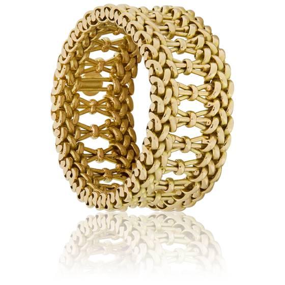 Vente au rabais 2019 prix de la rue prix de la rue Bague florentine souple en or jaune de 9.5 mm de largeur - Ocarat
