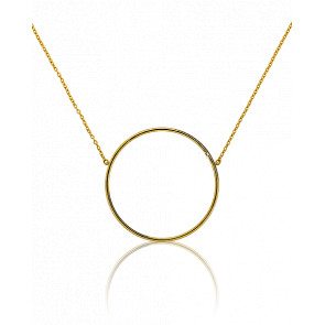 Collier Circle Accroché Or Jaune 31 mm