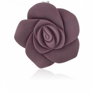 Pendentif fleur en argent et résine violette