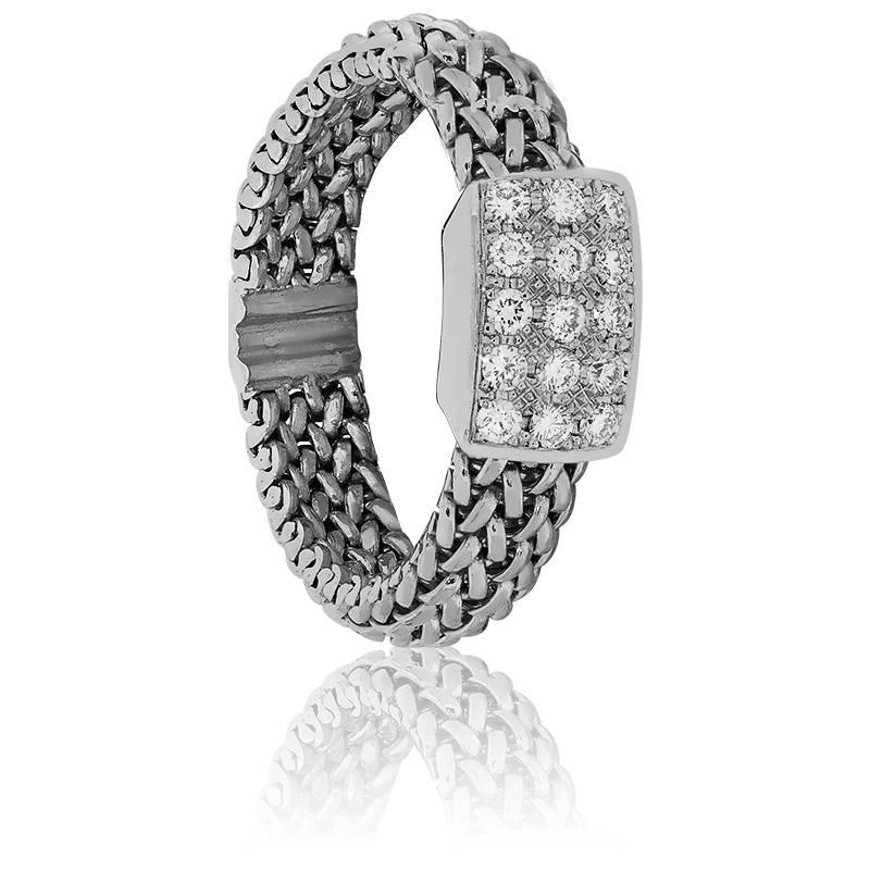 bague cha ne elga en or blanc 18 carats diamants angevine ocarat. Black Bedroom Furniture Sets. Home Design Ideas
