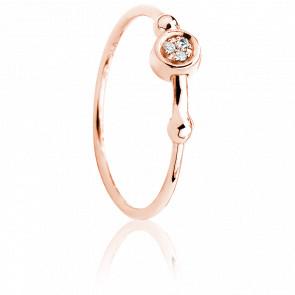Bague Swing Vermeil Or rose & Diamants
