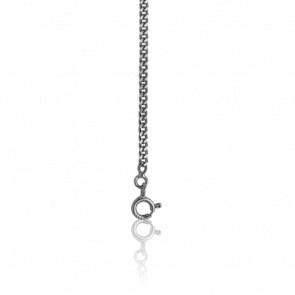 Chaîne Gourmette Diamantée Argent, longueur 60 cm