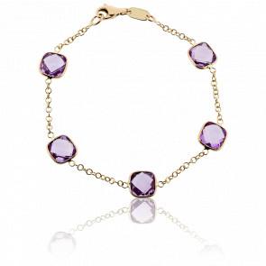 Bracelet Aria Or Jaune & Améthystes