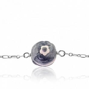 Bracelet Macaron Argenté