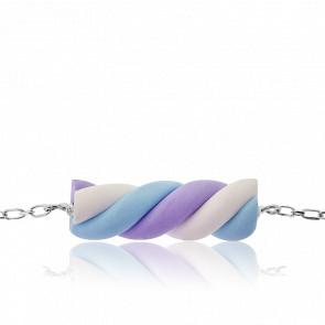 Bracelet Guimauve Bleue