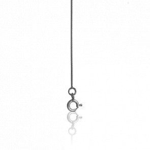 Chaîne Serpentine Ronde 60 cm Or blanc - Manillon