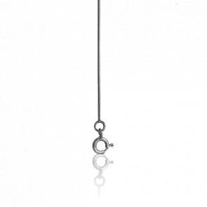 Chaîne Serpentine Ronde, Or Blanc 18K, longueur 60 cm