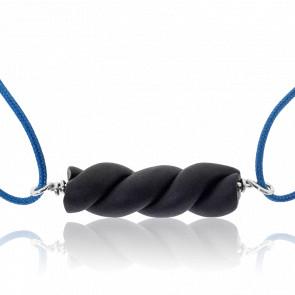 Bracelet Cordon Réglisse Bleu