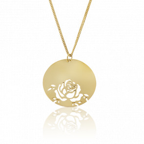Collier Fay Rose Plaqué Or Jaune
