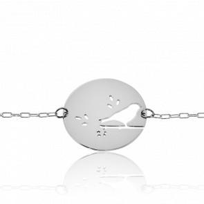 Bracelet Fay Oiseau Plaqué Argent