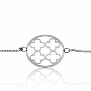 Bracelet Hara Simple Trèfle Plaqué Argent