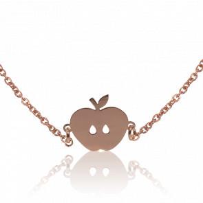 Collier Chaîne Apple Plaqué Or Rose