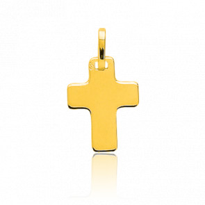 Croix Plate 14x19 mm Or Jaune 18K