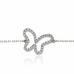 Bracelet Papillon Diamanté