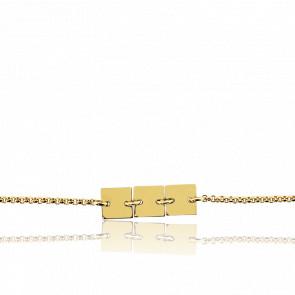 Bracelet Trio carrés Or jaune 18K