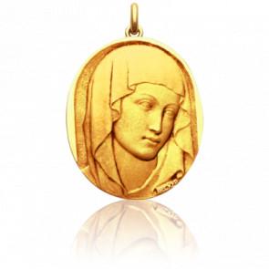 Médaille Vierge XIII Ovale Or Jaune 18K