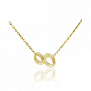 """Collier Chiffre """"8"""" Or Jaune 18K"""