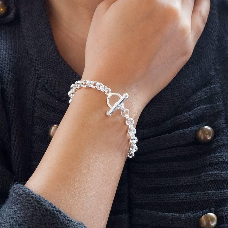 bracelet argent massif maille jaseron