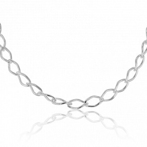 Collier Maille Rombo Argent
