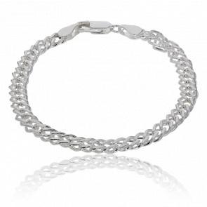 Bracelet Argent Maille Double Rombo