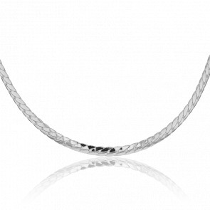 Collier Maille Anglaise Argent