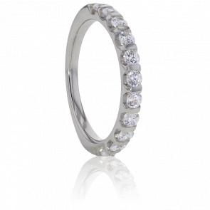 Alliance Banquo, Diamants & Or Blanc 18K