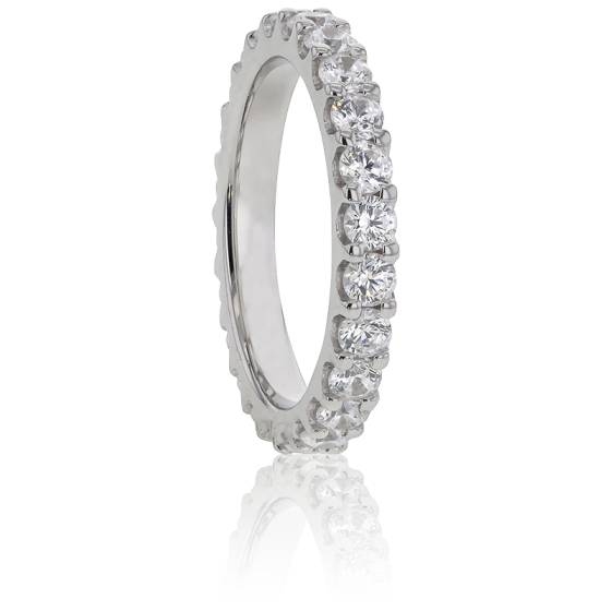 Alliance Bianca, Diamants GVS & Or Blanc 18K